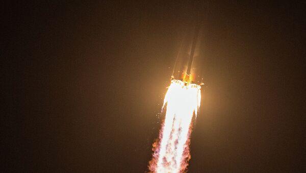 Старт ракете Сојуз ТМА-14М са космодрома Бајконур - Sputnik Србија