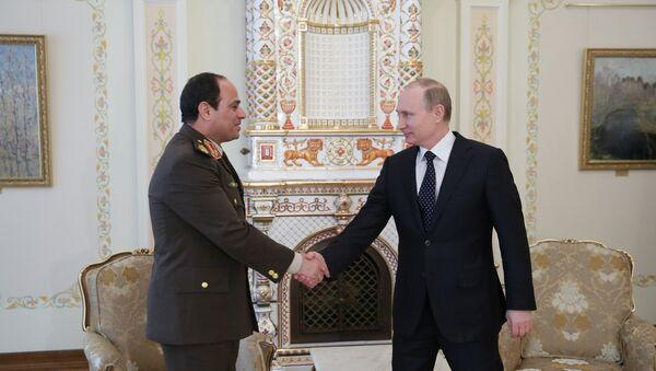 Susret Vladimira Putina i generala Abdel-Fataha al-Sisija - Sputnik Srbija
