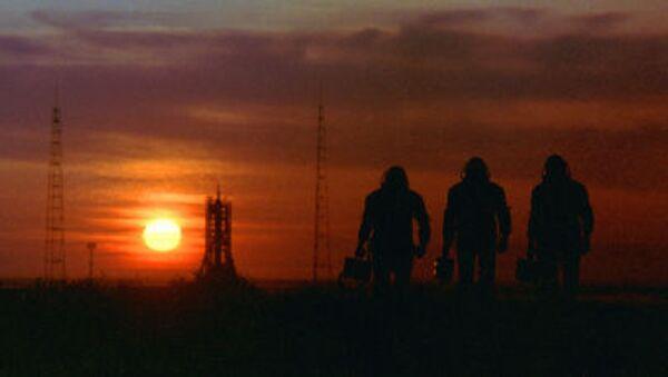 Космонавты на космодроме Байконур - Sputnik Србија