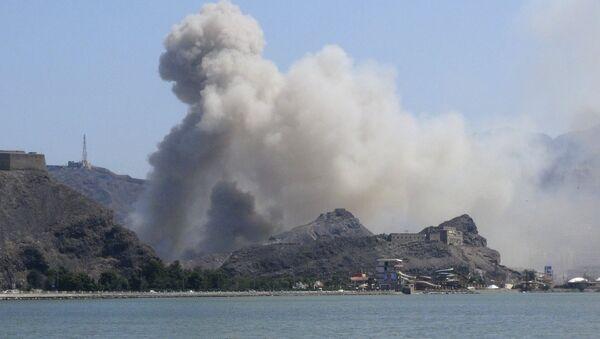 Jemenska luka Aden, bombardovanje - Sputnik Srbija