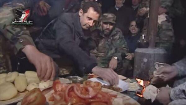 Сиријска војска и председник Башар Ал Асад - Sputnik Србија