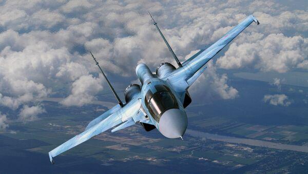 Сухој Су-34 у лету - Sputnik Србија