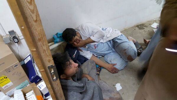 Oсобље болнице у Кундузу, Авганистан, коју су бомбардовале америчке ваздушне снаге - Sputnik Србија