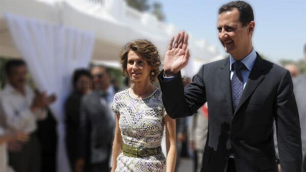 Башар ел Асад и његова жена Асма - Sputnik Србија