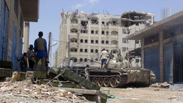 Borci jemenskom gradu Adenu - Sputnik Srbija