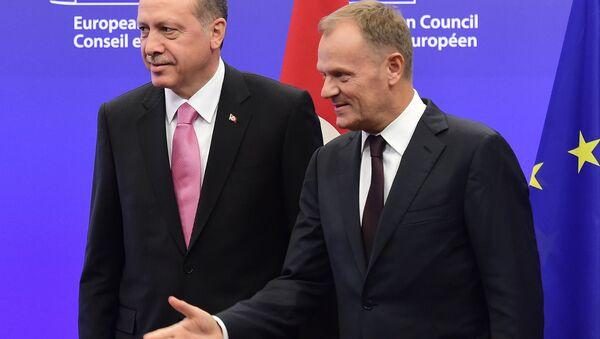 Redžep Tajip Erdogan i Donald Tusk - Sputnik Srbija