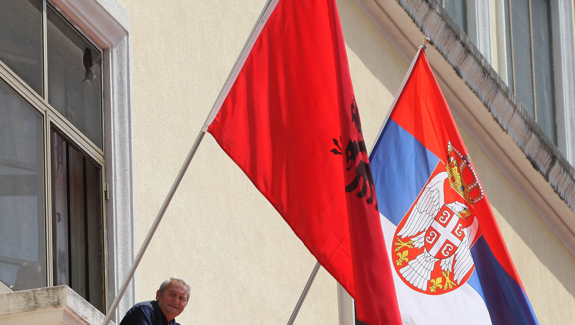 Заставе Албаније и Србије - Sputnik Србија, 1920, 08.05.2021