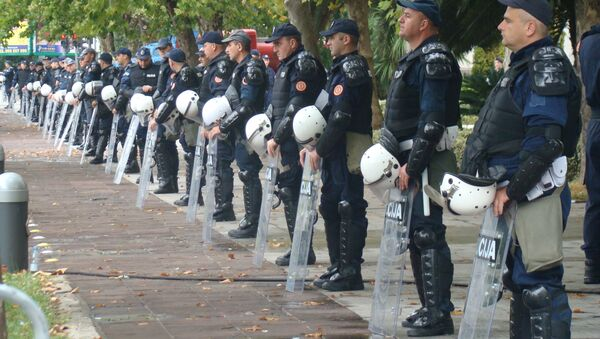 Црногорска полиција на протесту - Sputnik Србија