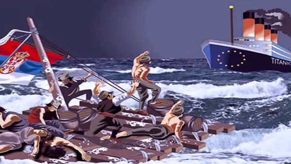 Титаник-илустрација - Sputnik Србија