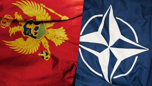 Zastave Crne Gore i NATO-a - Sputnik Srbija