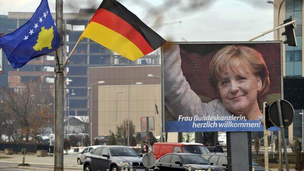 Заставе немачке и Косова у Приштини - Sputnik Србија