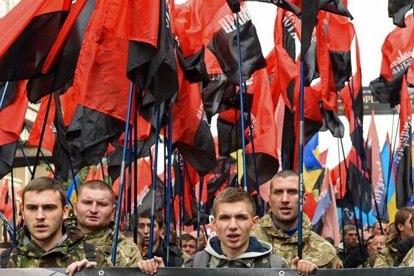 Акције у украјинском градовима Украјине Дана заштитника - Sputnik Србија