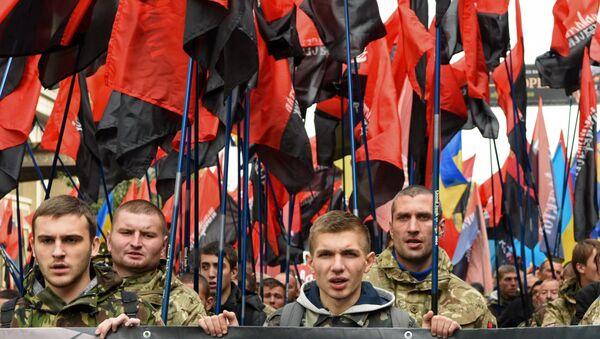 Akcije u ukrajinskom gradovima Ukrajine Dana zaštitnika - Sputnik Srbija