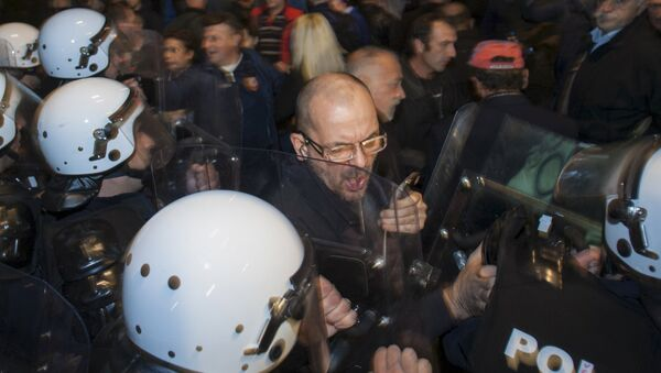 Podgorica, protesti 17.10.2015 - Sputnik Srbija