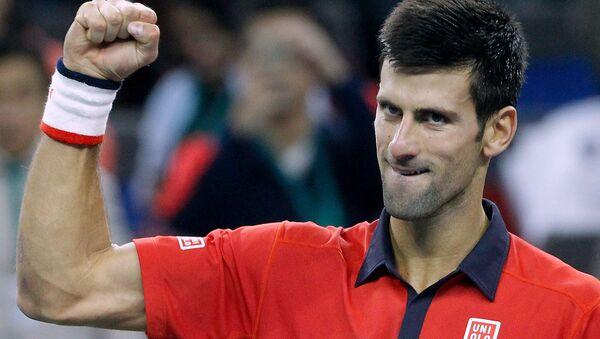 Novak Đoković na turniru u Šangaju - Sputnik Srbija