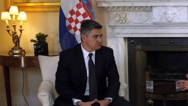 Премијер Хрватске Зоран Милановић - Sputnik Србија