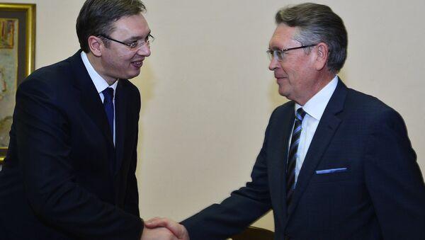 Aleksandar Vučić i Aleksandar Čepurin - Sputnik Srbija