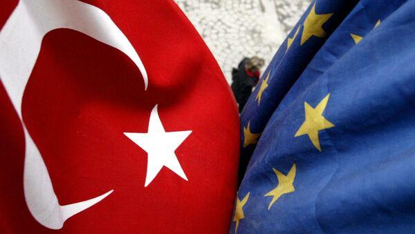Заставе Турске и Европске уније - Sputnik Србија