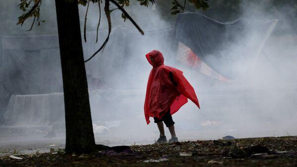 Sirijske izbeglice u Hrvatskoj, dana 19.10.2015. godine - Sputnik Srbija