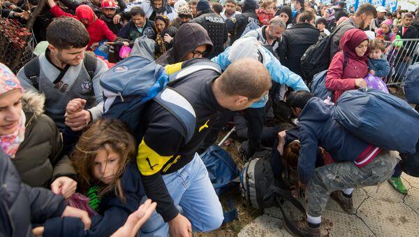 Мигранти из Сирије, на Словеначкој граници - Sputnik Србија