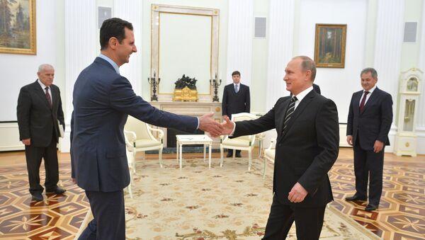 Bašar Asad i Vladimir Putin - Sputnik Srbija
