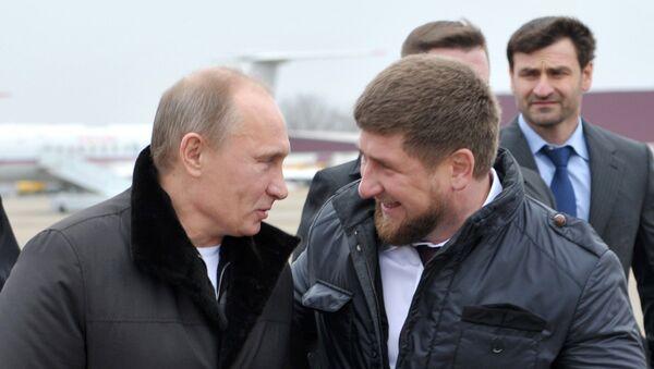 Vladimir Putin i Ramzan Kadirov - Sputnik Srbija