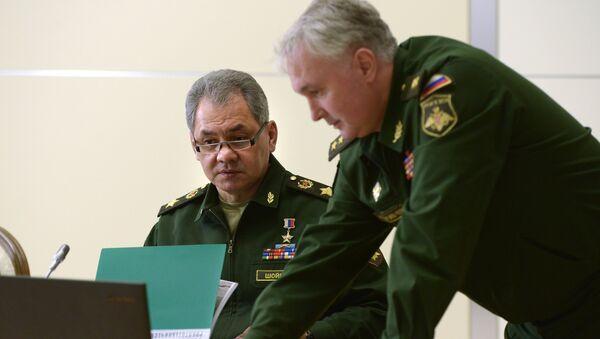 Ministar odbrane Rusije Sergej Šojgu i načelnik glavne operativne uprave generalštaba Rusije Andrej Kartapolov - Sputnik Srbija