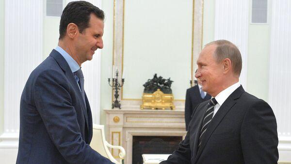 Predsednici Rusije i Sirije Vladimir Putin i Bašar el Asad - Sputnik Srbija