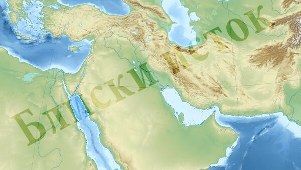 Bliski istok - mapa - Sputnik Srbija