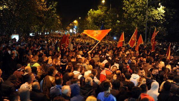 Protest opozicije i njenih pristalica u Podgorici - Sputnik Srbija
