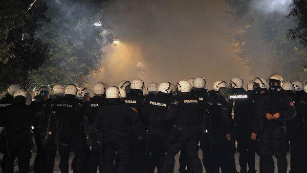 Kordon policije u Podgorici - Sputnik Srbija