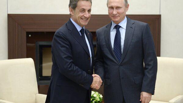 Nikola Sarkozi i Vladimir Putin - Sputnik Srbija
