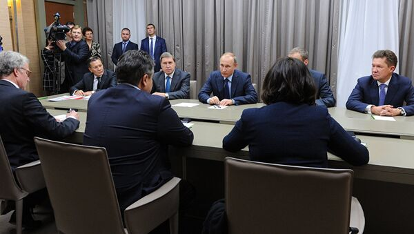 Sastanak Vladimira Putina sa vicekancelarom Nemačke Zigmarom Gabrijelom - Sputnik Srbija