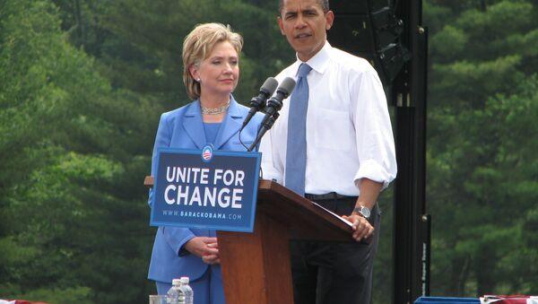 Хилари Клинтон и Барак Обама - Sputnik Србија