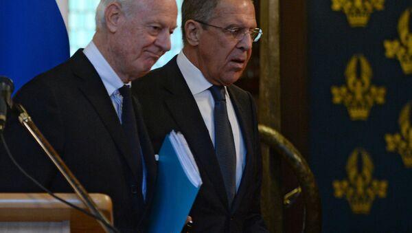 Stafan de Mistura i Sergej Lavrov - Sputnik Srbija