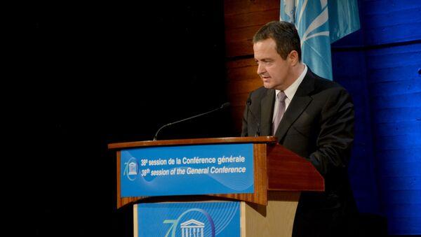 Ministar sponjnih poslova Srbije Ivica Dačić u Parizu na Generalnoj skupštini Uneska - Sputnik Srbija