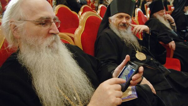 Ruski sveštenici na Arhijerejskom saboru u Hramu Hrista Spasitelja u Moskvi - Sputnik Srbija
