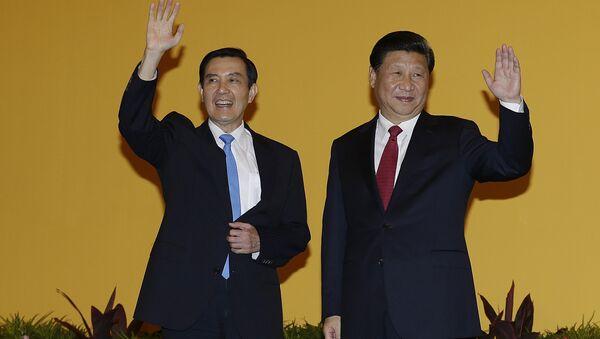 Tajvanski i kineski predsednici Ma Jing-jeou i Si Ðinping - Sputnik Srbija