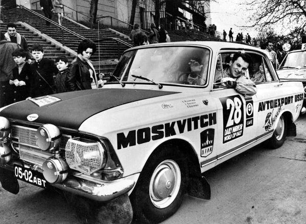 """Аутомобил """"Москвич"""" под бројем 28 који је заузео 12 место у аутомобилској трци Лондон - Мексико 1970. године - Sputnik Србија"""