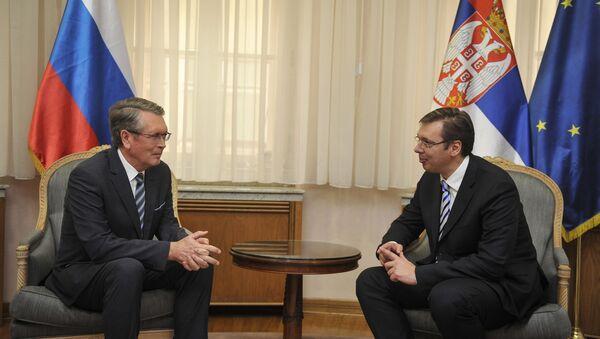 Predsednik Vlade Srbije Aleksandar Vučić i ambasador Ruske federacije Aleksandar Čepurin - Sputnik Srbija