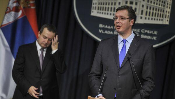 Premijer Srbije Aleksandar Vučić i prvi potpredsednik Vlade Srbije i ministar spoljnih poslova Ivica Dačić - Sputnik Srbija