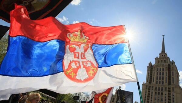 """""""Srpski marš"""" u znak podrške teritorijalnom integritetu Srbije u Moskvi - Sputnik Srbija"""