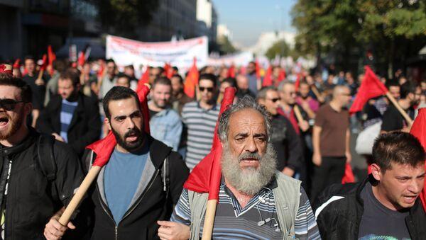 Грчка, генерални штрајк - Sputnik Србија