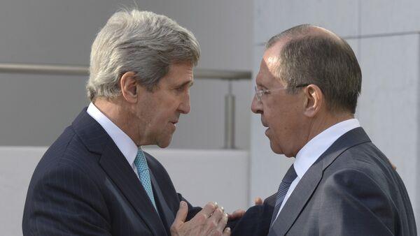 Ruski ministar inostranih poslova Sergej Lavrov, državni sekretar SAD Džon Keri - Sputnik Srbija