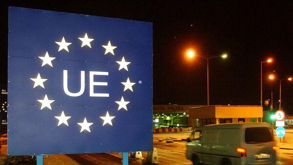 Automobil ulazi u Evropsku uniju na poljsko-ukrajinskoj granici - Sputnik Srbija