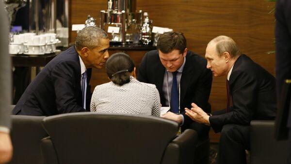 Путин и Обама на маргинама самита Г-20 у Белеку код Анталије - Sputnik Србија