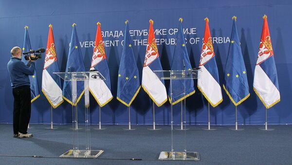 Заставе ЕУ и Србије - Sputnik Србија