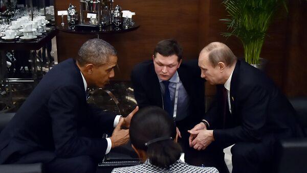 Predsednik Rusije Vladimir Putin i predsednik SAD Barak Obama na samitu G20 u Turskoj - Sputnik Srbija
