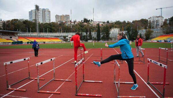 Trening ruskih atletičara u Sočiju - Sputnik Srbija