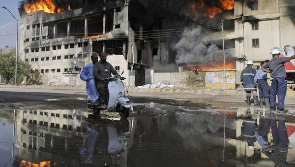 Požar u fabrici u Pakistanu - Sputnik Srbija